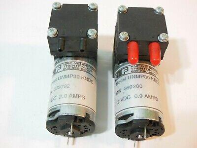 Lot Of 2 Knf Neuberger Micro Diaphragm Gas Pump Unmp30 - Kndc - 6 Vdc 2.0 Amps