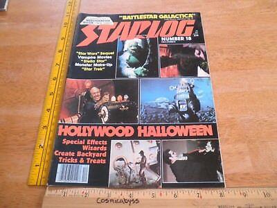 Halloween makeup Battlestar Galactica S Trek Starlog 18 making of magazine 1970s (Make Magazine Halloween)