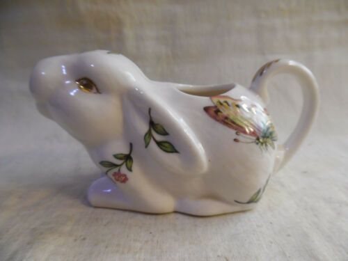 Vintage Creamer Rabbit With Butterfly And Flowers