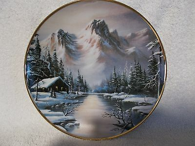 """""""Peaceful Solitude"""" Franklin Mint Heirloom Collector's Plate 1992 XLNT CONDITION"""