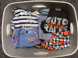 Large lot of boys clothes size 24mos-5t