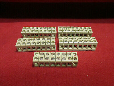 0449060000 Weidmuller Barrier Panel Mount Terminal Blocks 6 Position Qty Of 5