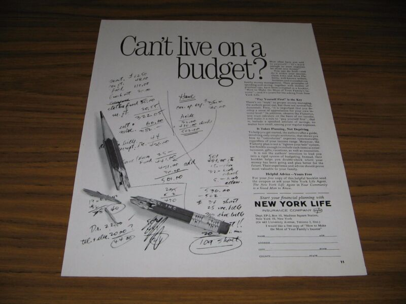 1963 Print Ad New York Life Insurance Can