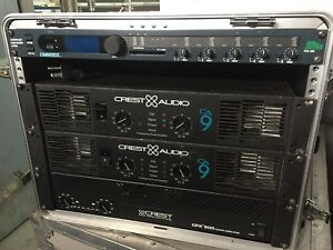 Crest CPX-900 Amplifier and a BSS FDS-355 Digital Processor