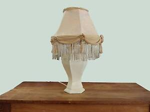 Cream lamp w fancy shade Lilyfield Leichhardt Area Preview