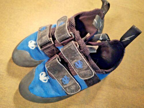 Evolv Youth Boys Small Blue Climbing Shoes US3.5 UK2.5 EUR35 CM21.5 Defy?