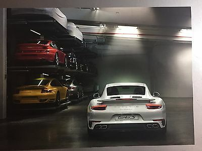 2017 Porsche 911 Turbo S Coupe Showroom Advertising Sales Poster RARE!! Awesome