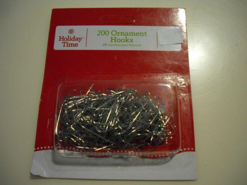 New 200PK Christmas Ornament Hooks Tree Wedding Garden Hangers Color Silver