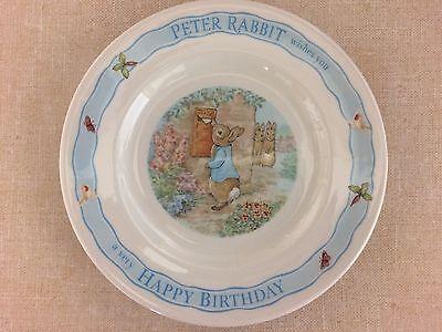 Wedgwood Peter Rabbit Birthday Plate