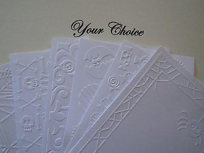 A2 Embossed Paper Cardstock Card Fronts Toppers Photo Mat Halloween Fall - Photo Halloween Cards