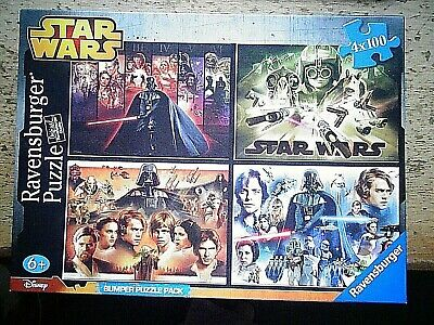 STAR WARS 4 Jigsaw Puzzles  X 100 pieces Ravensburger  UNUSED