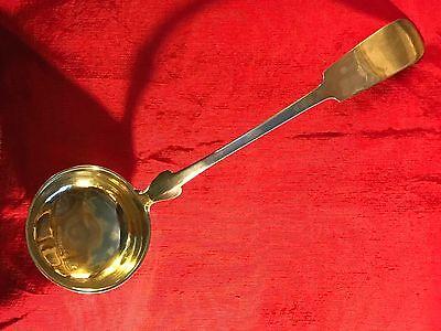 Antique German Large Silver Ladle with Gilt Bowl c. 1800