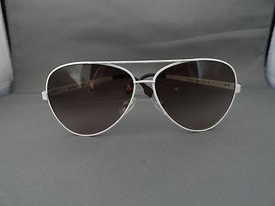NEW UNISEX AUTHENTIC BOSS ORANGE AVIATOR SUNGLASSES WHITE BO 0011/S UVM K8 (Boss Orange Aviator Sunglasses)
