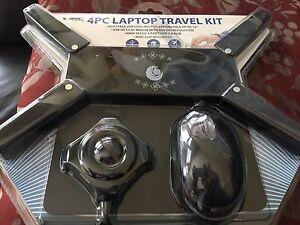 4 Pc Laptop Travel Kit - New In Box!