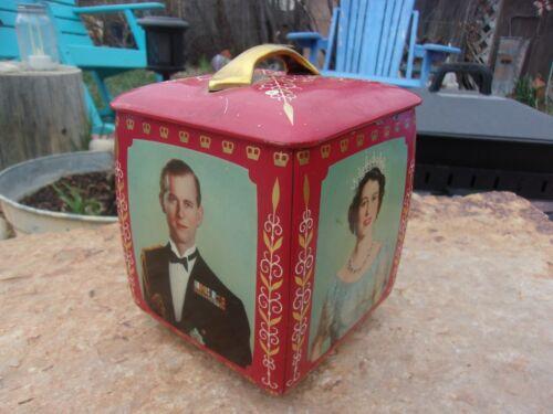 Royal Wedding Biscuit Tin Queen Elizabeth II & Prince Philip 1947.  Edward