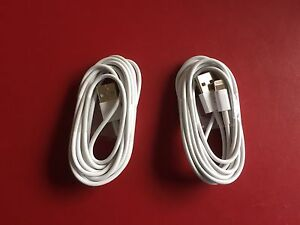 2 Brand New 6 foot long iPhone Lightening Chargers