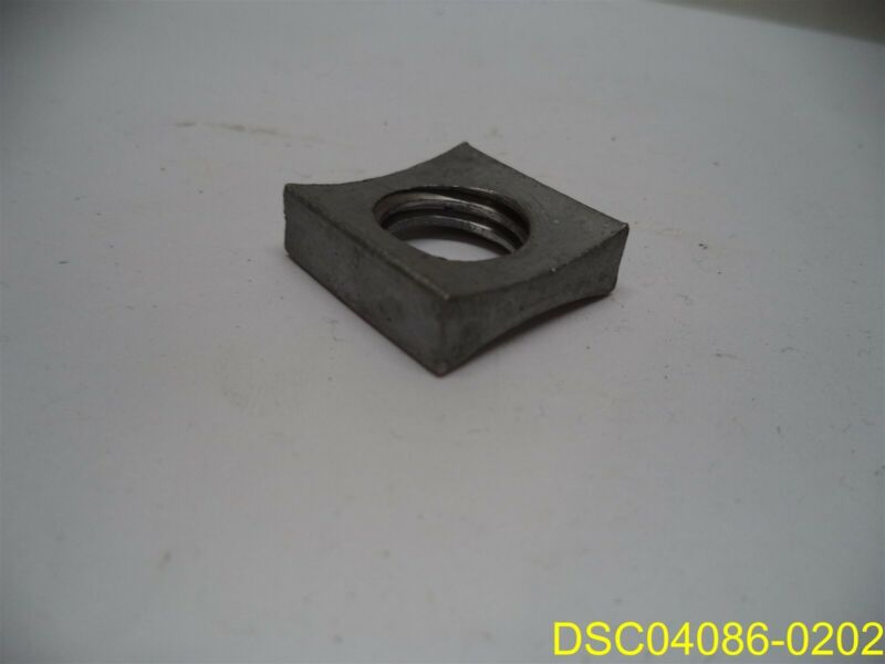 "Qty = 716: Concave Lock Nuts 5/8""-11, Square 15/16"" x 5/16"" Thick galvanzed"