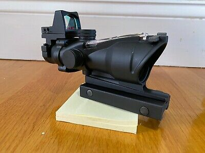 4x32 Tactical Acog Scope With Red Real Fiber Rifle Scope W/ RMR Red Dot Sight