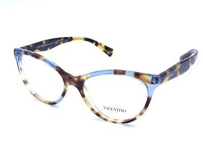 Valentino VA3013 5056 Brown Blue Clear Eyeglasses Frames 53-17 140 NEW (Valentino Frames Eyeglasses)