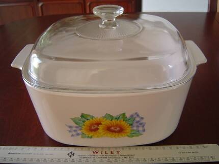 5L SUNSATION CORNING WARE CASSEROLE u0026 A12C PYREX LID CORNINGWARE & CorningWare etch mango 2.35L Oblong baker with glass lid ...