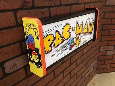Pac Man arcade marquee light box  Bally Midway custom Pacman