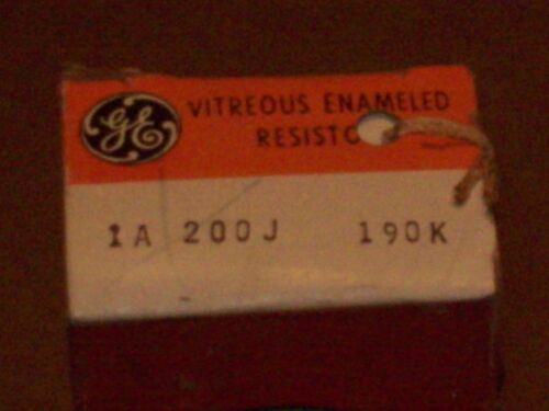 NEW GENERAL ELECTRIC 1A200J190K GD4 190K OHM 200W MOTOR CONTROL RESISTOR  P465
