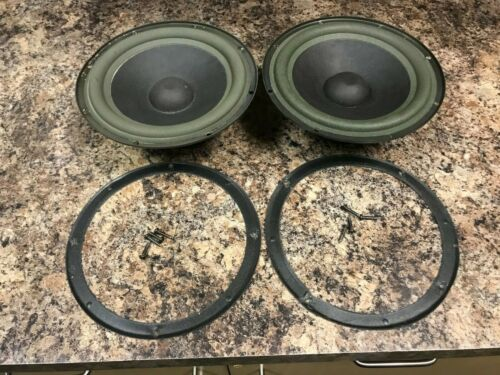 "Pair of Bose 301 Series II 8"" Speaker Drivers Woofers Good Condition Replacement"