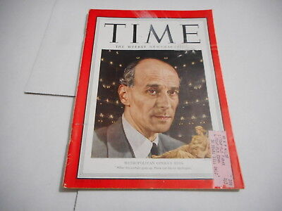 Jan 15 1951 Vintage Time News Magazine Metropolitan Opera Bing