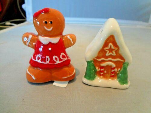 Gingerbread House and Girl Salt Pepper Shaker- Small 2-2.25