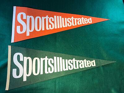 Vintage SPORTS ILLUSTRATED Sports Full Size Pennant Lot Flag Decor Advertisement