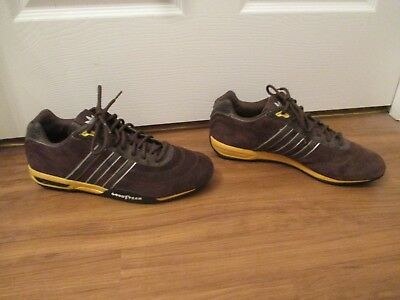 b3161a1a1163c Classic 2006 Used Worn Size 11 Adidas Adi Racer Plus Shoes Brown Yellow  Goodyear
