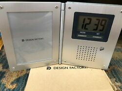 Travel Radio Alarm Clock and Picture Frame Vintage