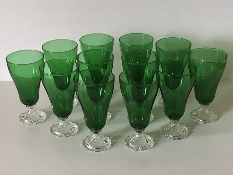 12 Forest Green Anchor Hocking 14oz Ice Tea Burple Bubble Inspiration Tumblers