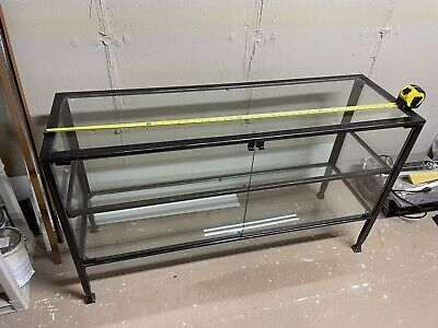 Large Metal Glass Display Case Cabinet 50x 29x16