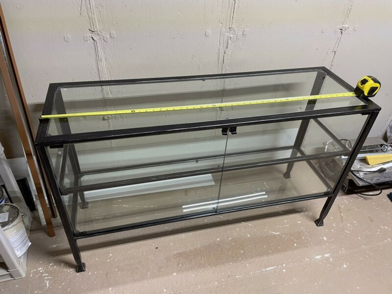 "Large Metal & Glass Display Case Cabinet 50""x 29""x16"""