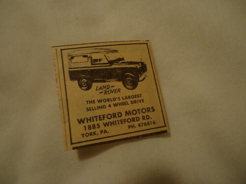 Land Rover 1963 newsprint ad