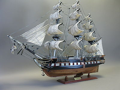 Holz Modell altes Segelschiff USS Konstitution Schiffsmodell 85cm Handarbeit