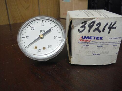 AMETEK P590 160659 PRESSURE GAUGE 60PSI 1/4 ANPT