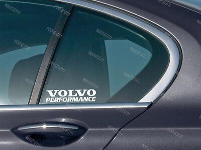 Gebraucht, Volvo Performance Aufkleber für 2 x Seitenfenster SILBER gebraucht kaufen  Versand nach Germany