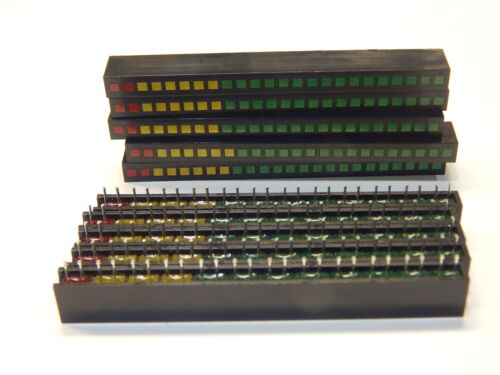 (10) SUNLED LED 12 SEGMENT BAR ARRAY 8 GREEN 3 YELLOW 1 RED - YOU GET 10 PIECES