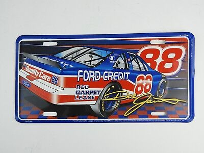 Dale Jarrett Ford Credit 88 Nascar Tin Metal License Plate Excellent Condition