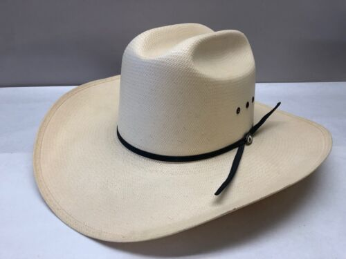 Resistol 7 3/8, conforming, Tuff-anuff straw hat, long oval, w/rodeo pin(1065)