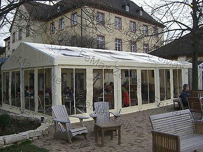 Festzelt Partyzelt Vereinszelt Gastronomiezelt Profizelt 5x15m / vanillegelb