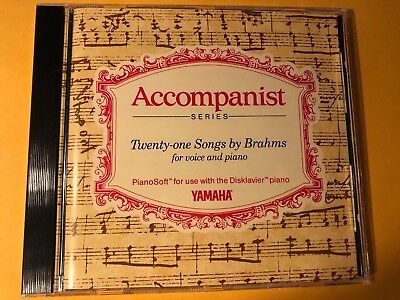 Yamaha PianoSoft For Use W/Disklavier Accompanist Series 21 Songs by Brahms for sale  Shipping to Canada