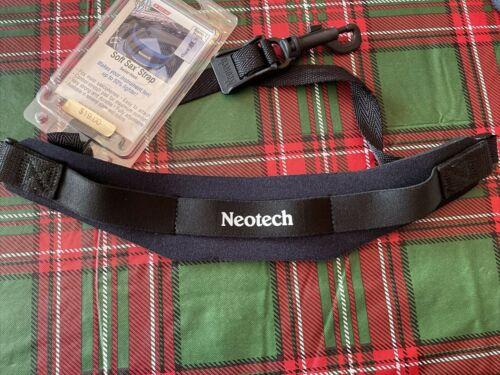 Neotech Swivel Hook Soft Sax Saxophone Strap Black Regular Made in USA