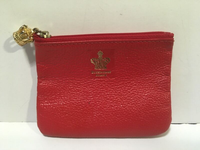 Buckingham Palace Red Leather Coin Purse Change Crown