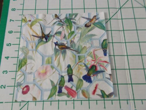 """Two Decorative Luncheon Napkins for Decoupage """"Family of Hummingbirds"""""""