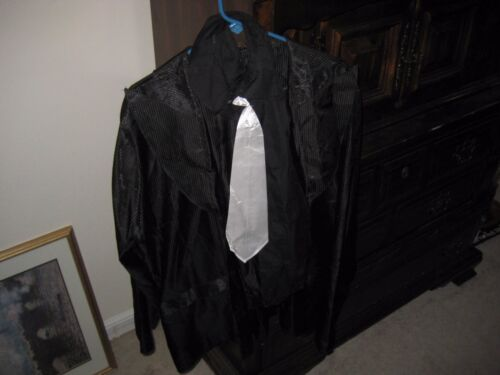 "Adult ""Gangster"" Pinstriped Halloween Costume   size Large"