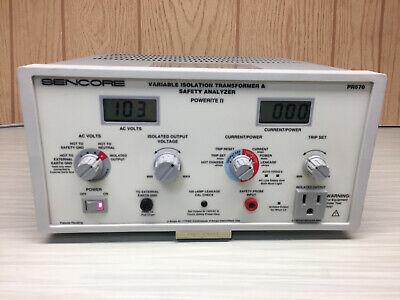 Sencore Pr570 Variable Isolation Transformer Safety Analyzer - Powerite Ii
