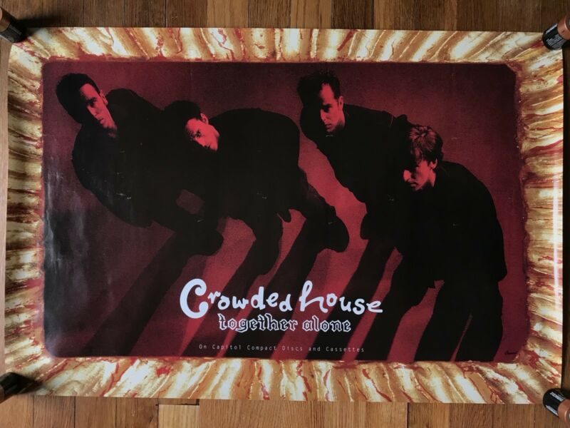 Crowded House Together Alone RARE original promo poster 1993
